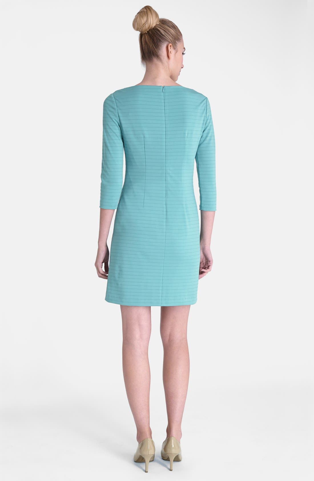 Alternate Image 2  - Tahari Zip Detail Drape Neck Textured Matte Jersey Dress
