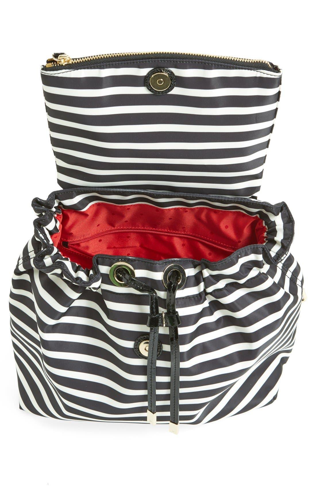 Alternate Image 3  - kate spade new york 'pattern' stripe backpack