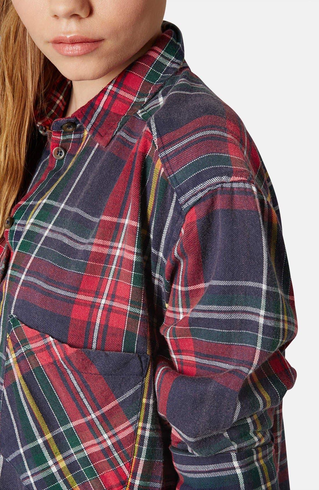 Alternate Image 4  - Topshop Oversized Plaid Cotton Shirt