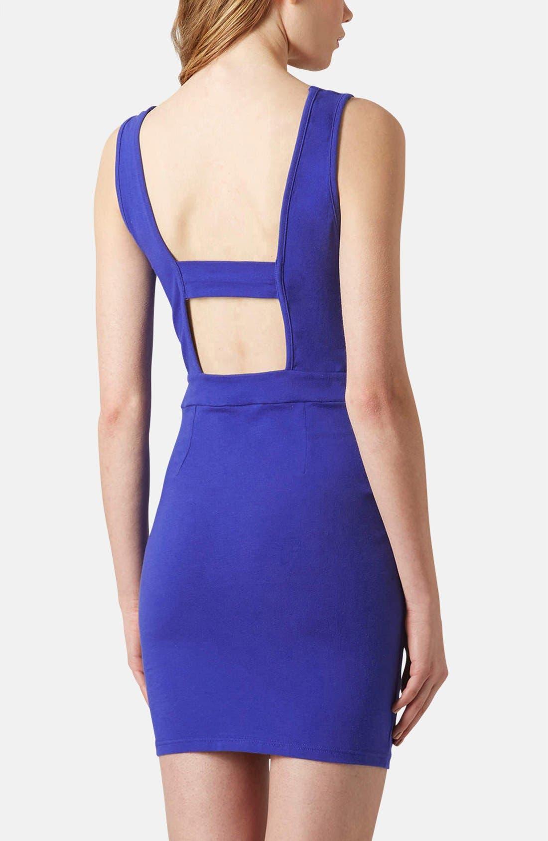 Alternate Image 2  - Topshop Cutout Jersey Body-Con Dress
