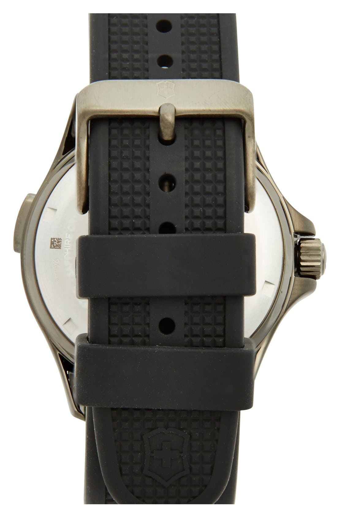 Alternate Image 2  - Victorinox Swiss Army® 'Night Vision' Rubber Strap Watch, 42mm