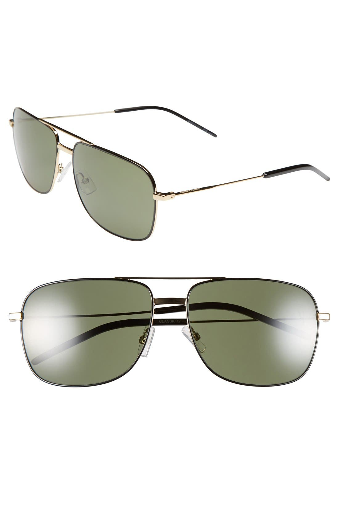 Main Image - Saint Laurent 59mm Navigator Sunglasses