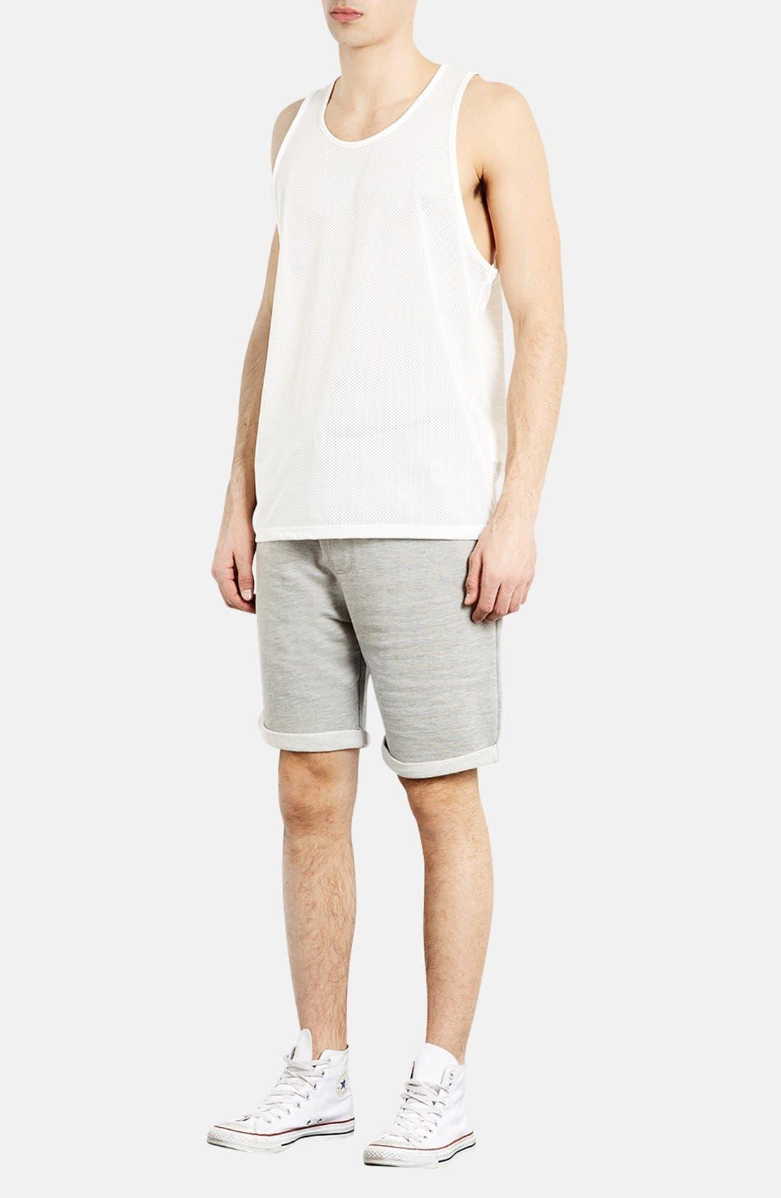Alternate Image 4  - Topman  Trim Fit Jersey Sweatshorts