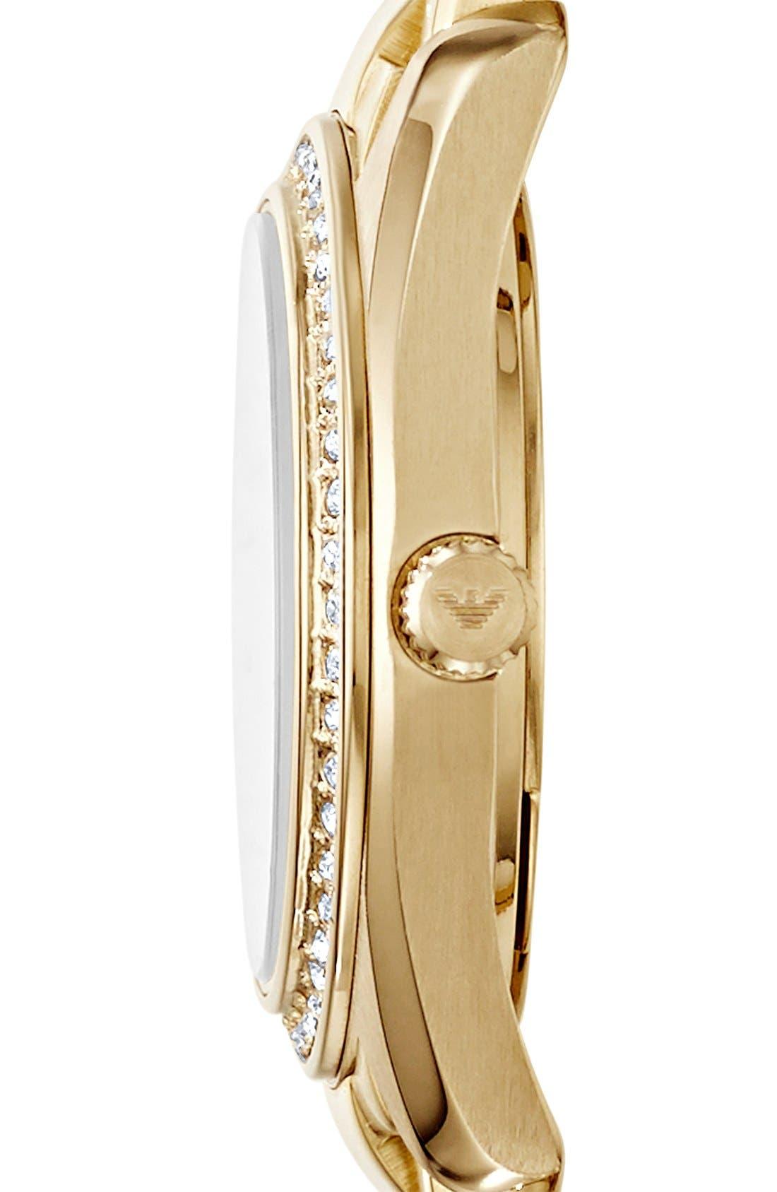 Alternate Image 3  - Emporio Armani Crystal Bezel Bracelet Watch, 26mm