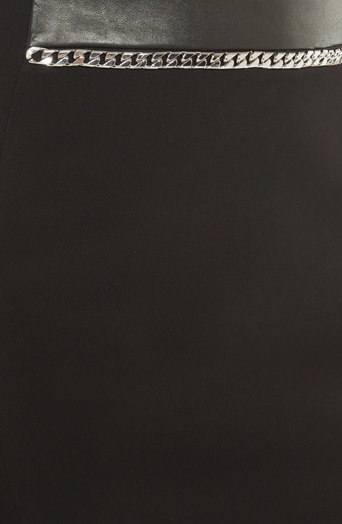 Alternate Image 3  - sandro 'Joyau' Leather & Chain Detail Skirt