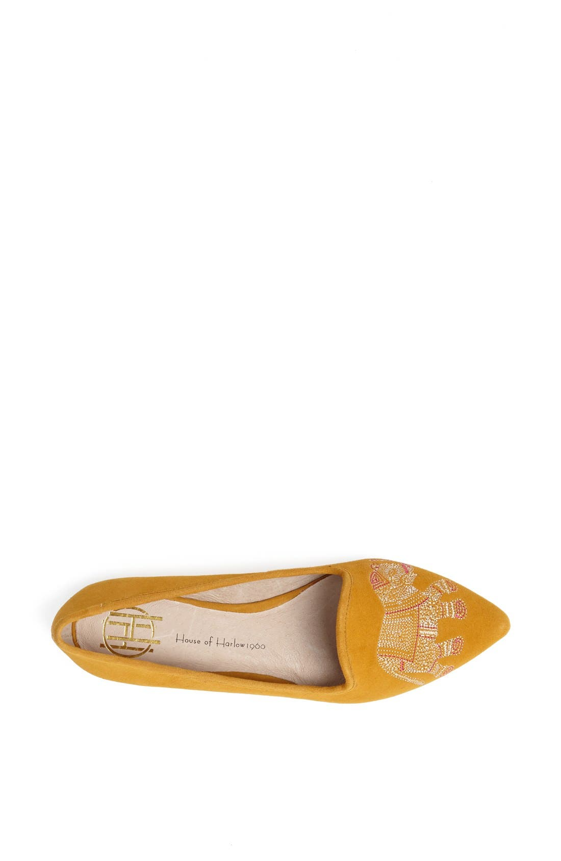 Alternate Image 3  - House of Harlow 1960 'Samy' Embroidered Smoking Slipper Flat