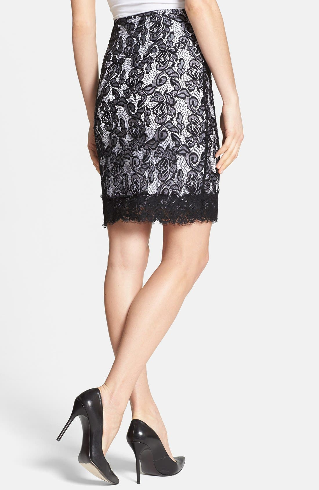 Alternate Image 2  - Lyssé Lace Overlay Control Top Pencil Skirt