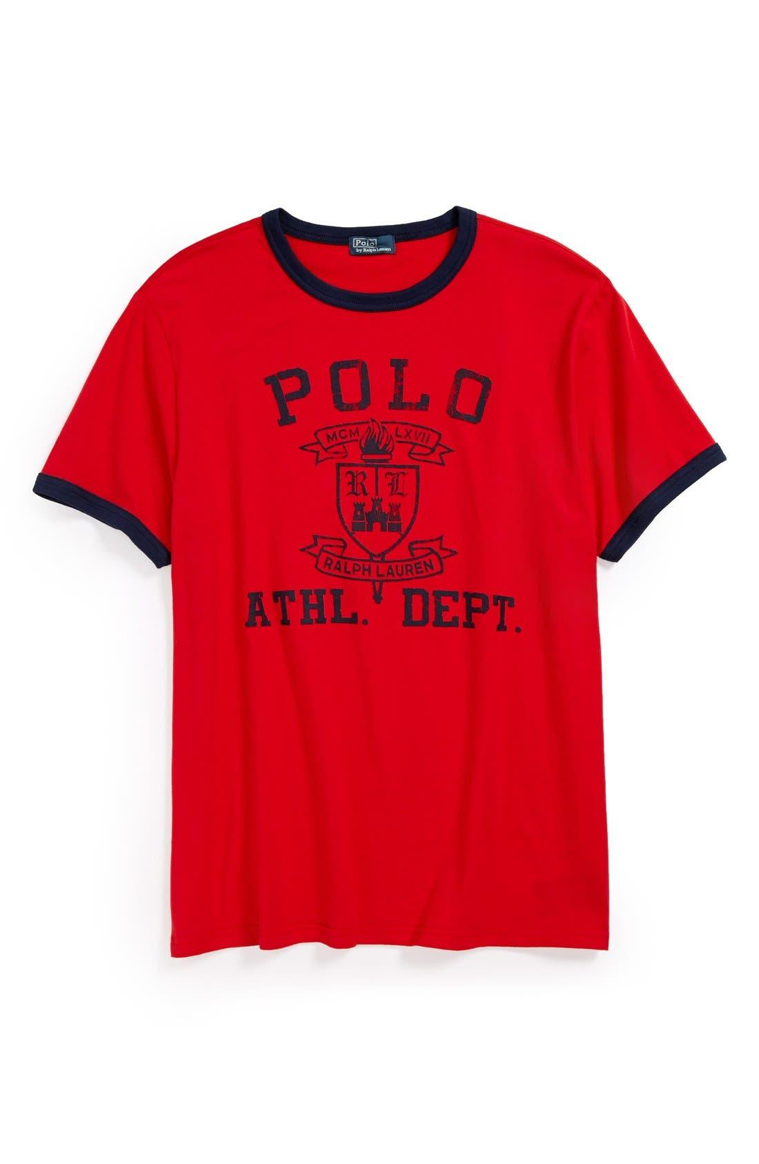Alternate Image 1 Selected - Ralph Lauren Graphic T-Shirt (Big Boys)