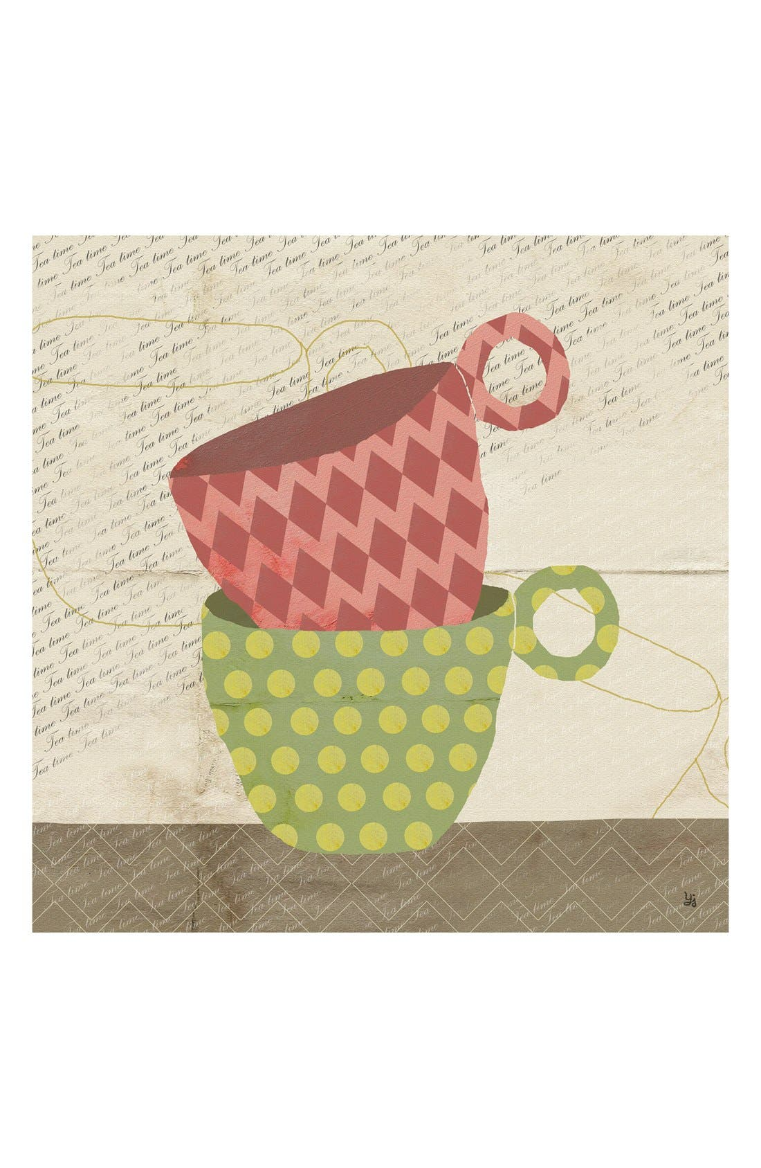 Main Image - Green Leaf Art 'Colorful Stacked Cups' Wall Art