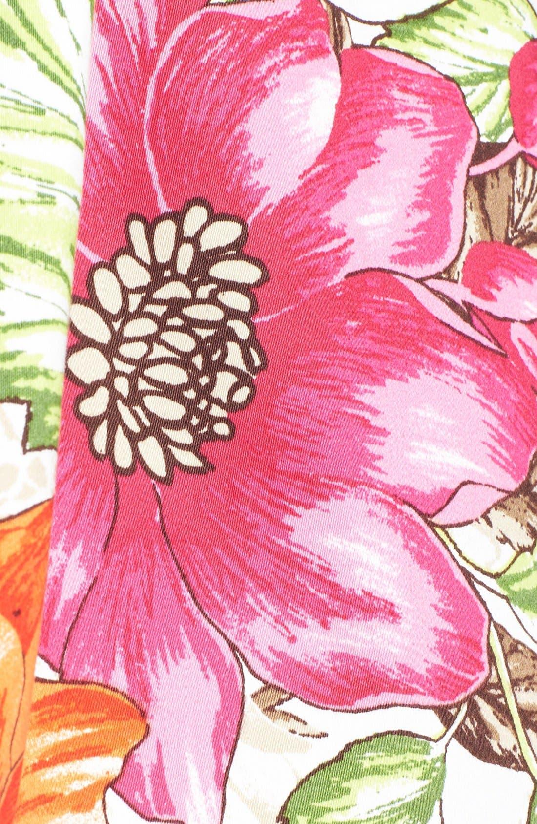 Alternate Image 4  - Eliza J Floral Print Cotton Sateen Fit & Flare Dress