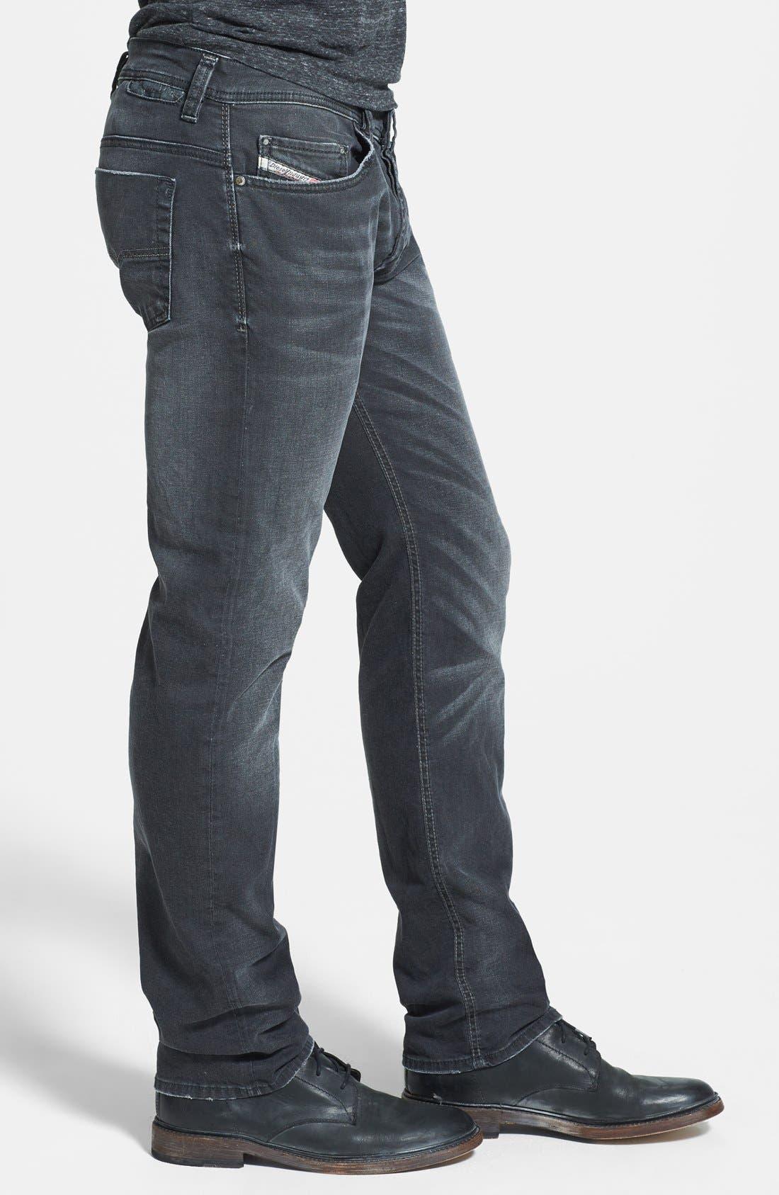 Alternate Image 3  - DIESEL® 'Safado' Slim Fit Jeans (Black)