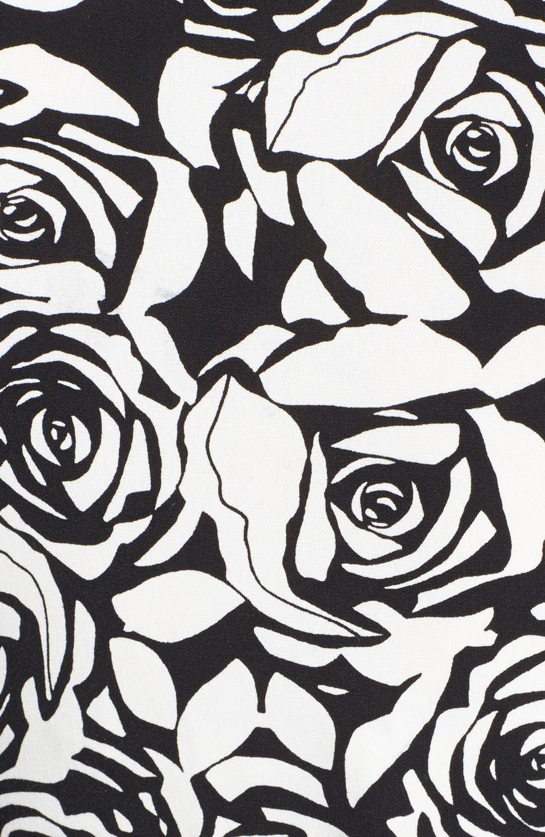 Alternate Image 3  - Anne Klein Belted Rose Print Dress
