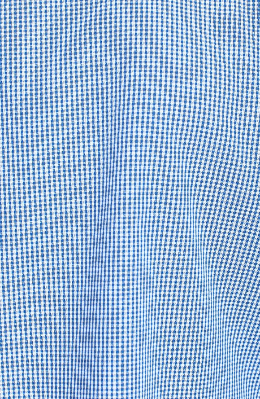 Alternate Image 3  - Topman Slim Fit Chambray Trimmed Gingham Shirt