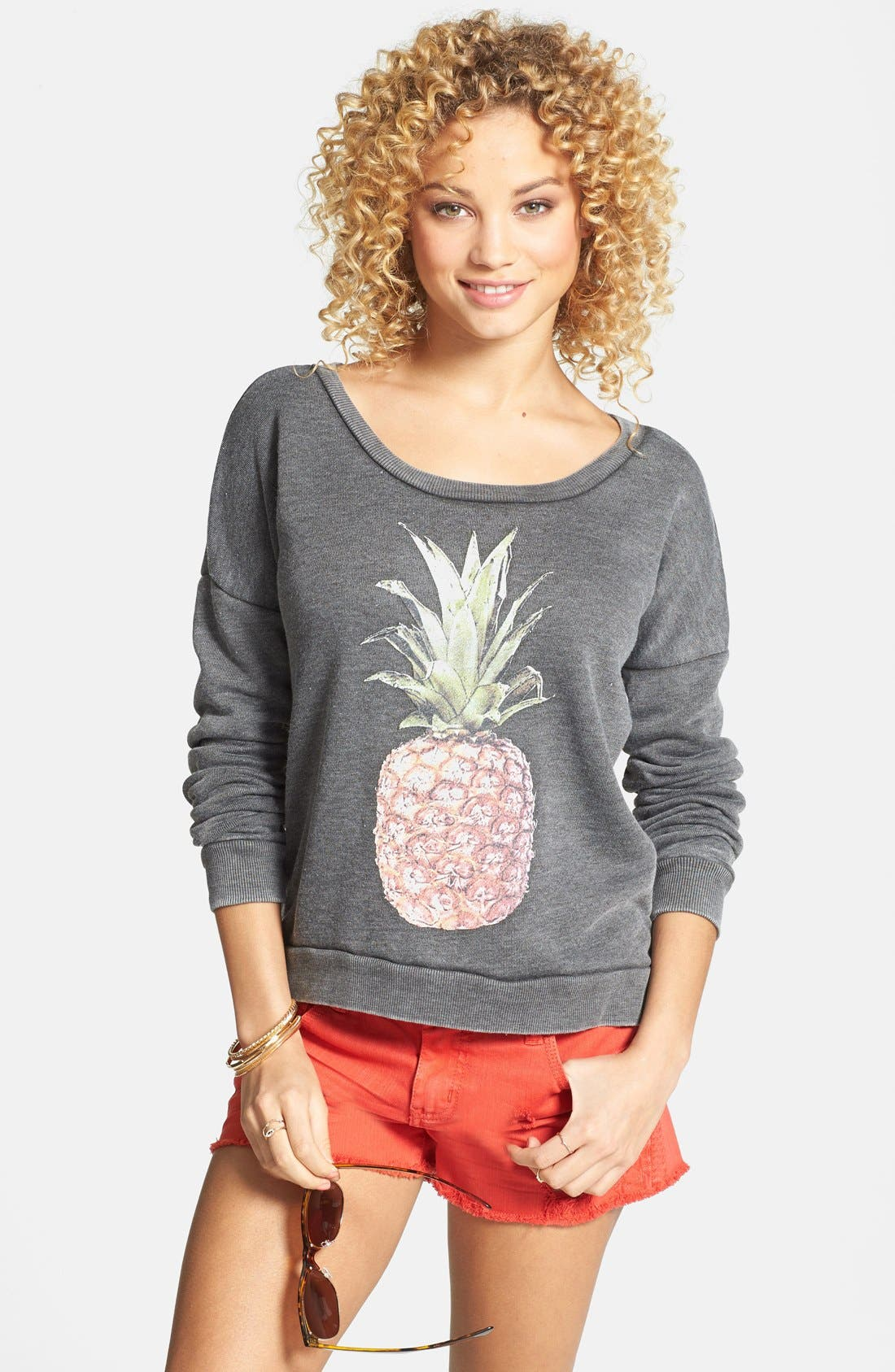 Alternate Image 1 Selected - Billabong 'She Sells' Pineapple Print Pullover (Juniors) (Online Only)