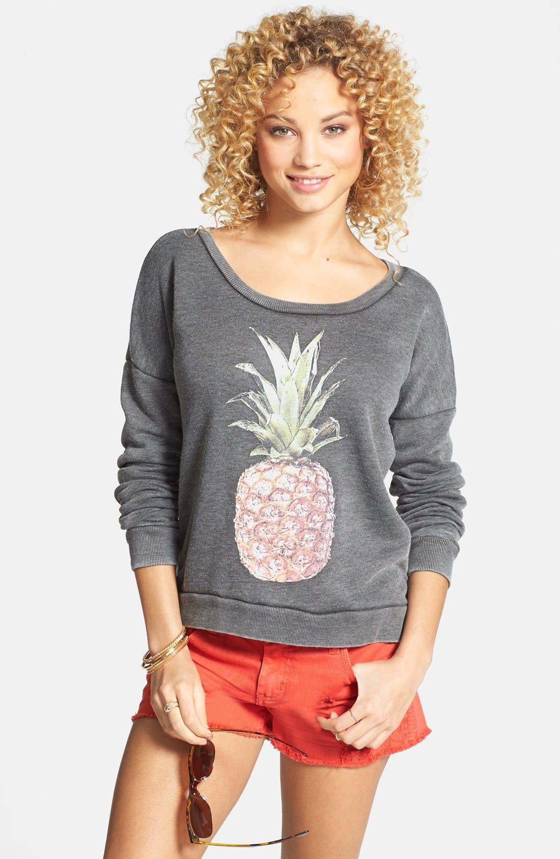 Main Image - Billabong 'She Sells' Pineapple Print Pullover (Juniors) (Online Only)