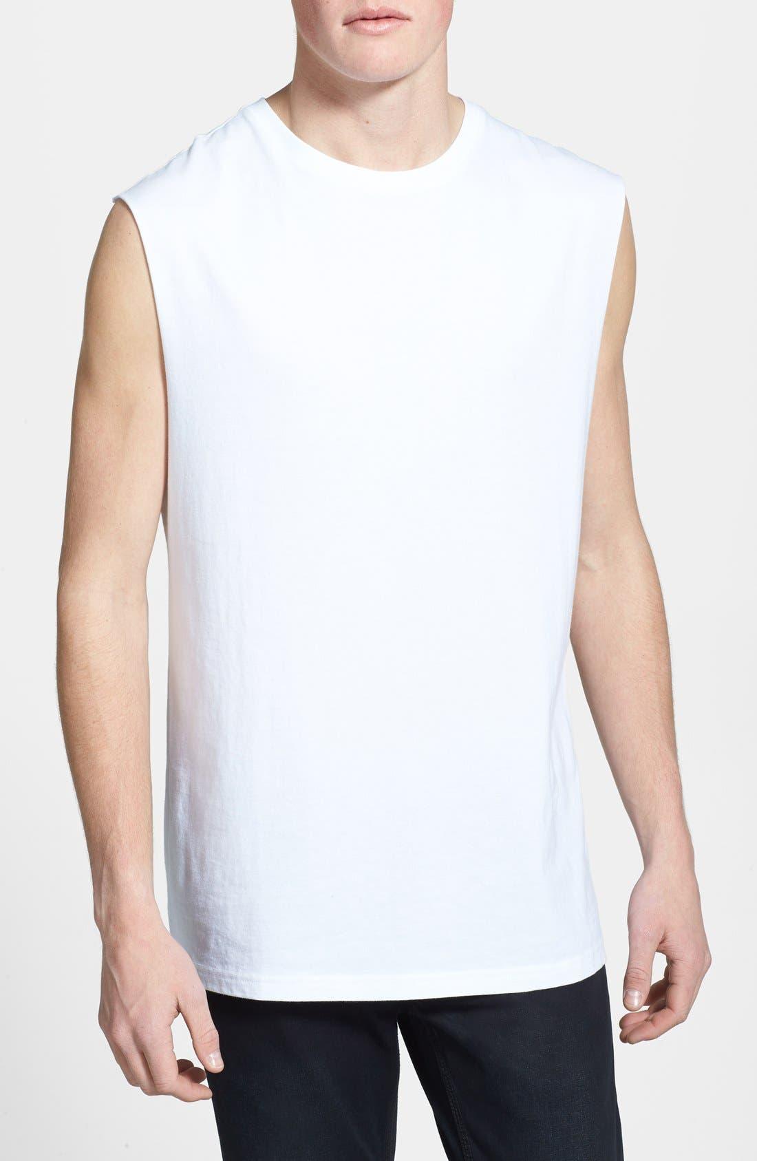 Main Image - Topman Oversized Sleeveless Crewneck T-Shirt