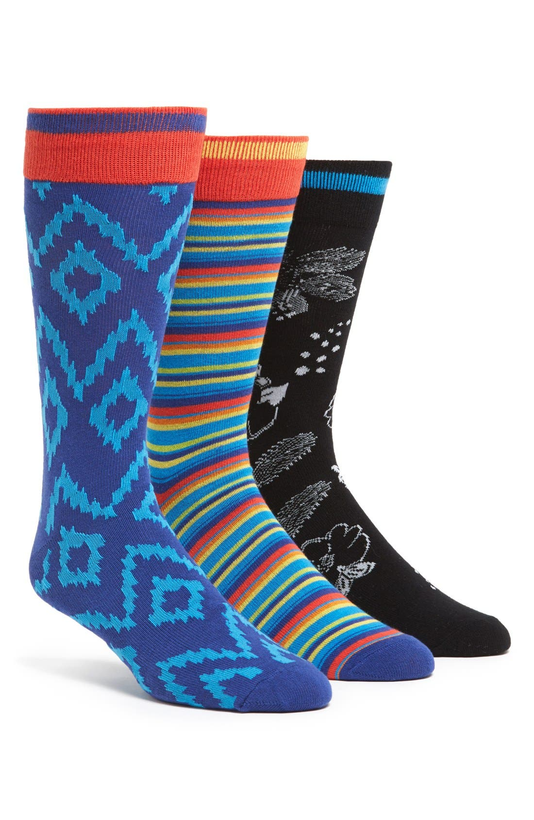 Main Image - The Rail Cotton Blend Socks (Assorted 3-Pack)
