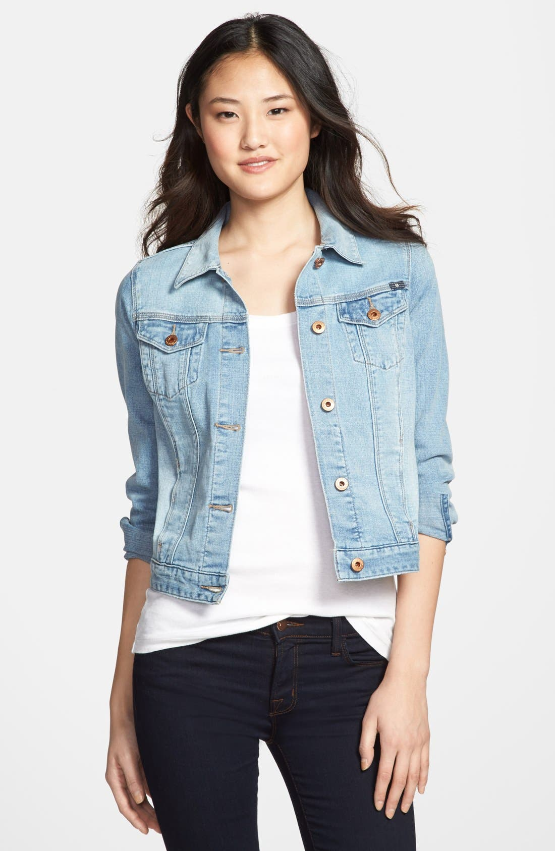 Main Image - Lucky Brand 'Dixie' Denim Jacket