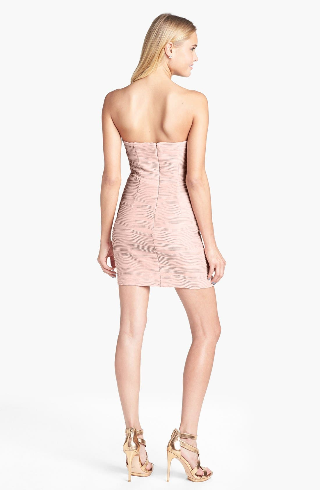 Alternate Image 2  - Hailey Logan Textured Body Con Dress (Juniors)