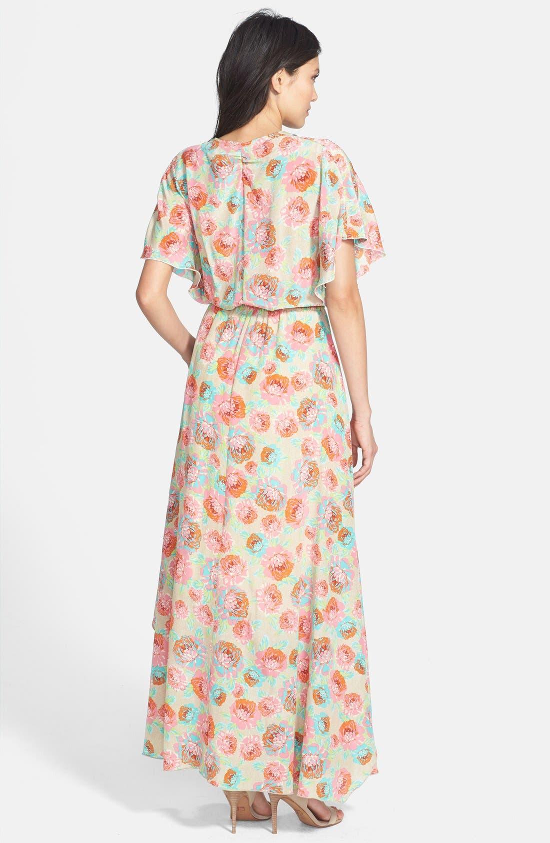 Alternate Image 2  - Ella Moss 'Delilah' Floral Silk Maxi Dress