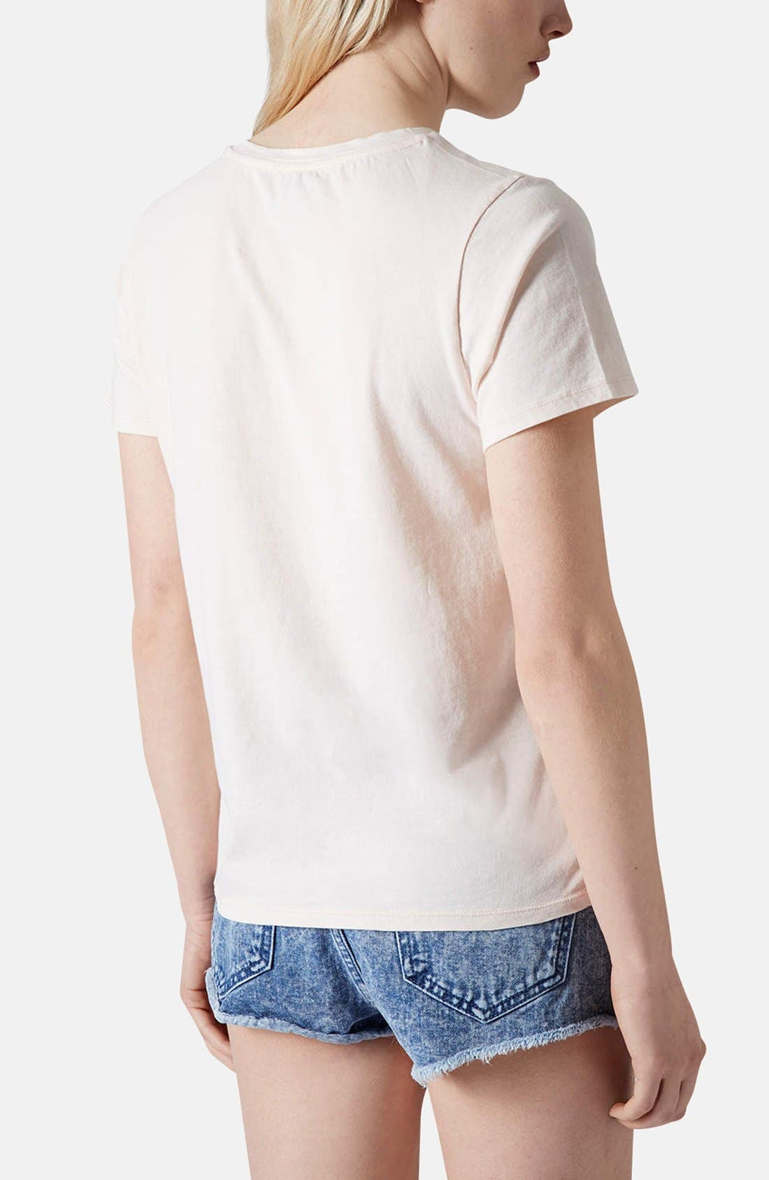 Alternate Image 2  - Topshop 'Oui Non' Embroidered Cotton Tee