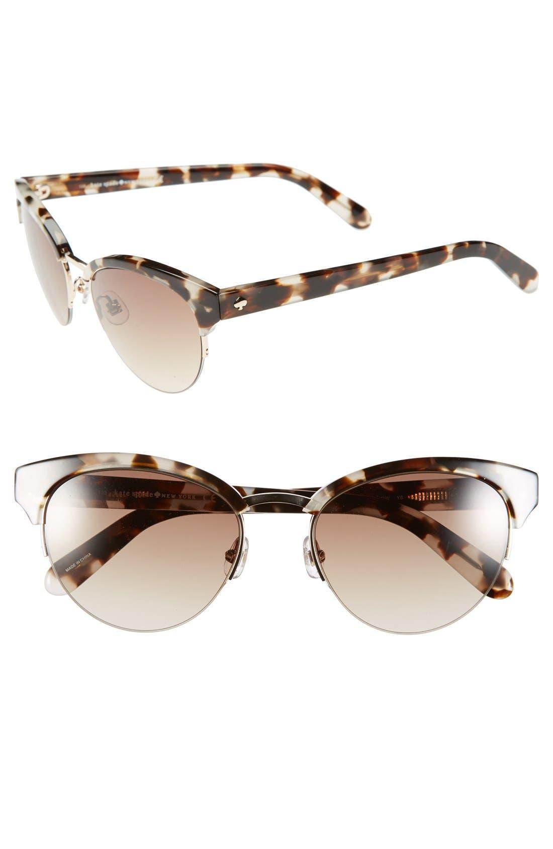 Alternate Image 1 Selected - kate spade new york 53mm cat eye sunglasses