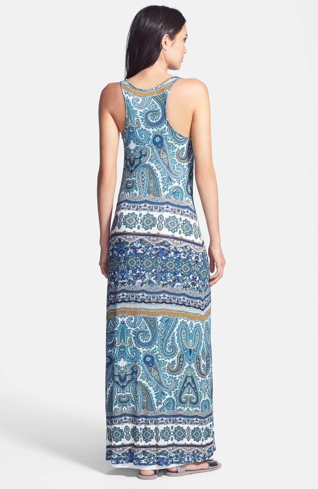 Alternate Image 2  - Velvet by Graham & Spencer 'Taj' Paisley Print Jersey Maxi Dress