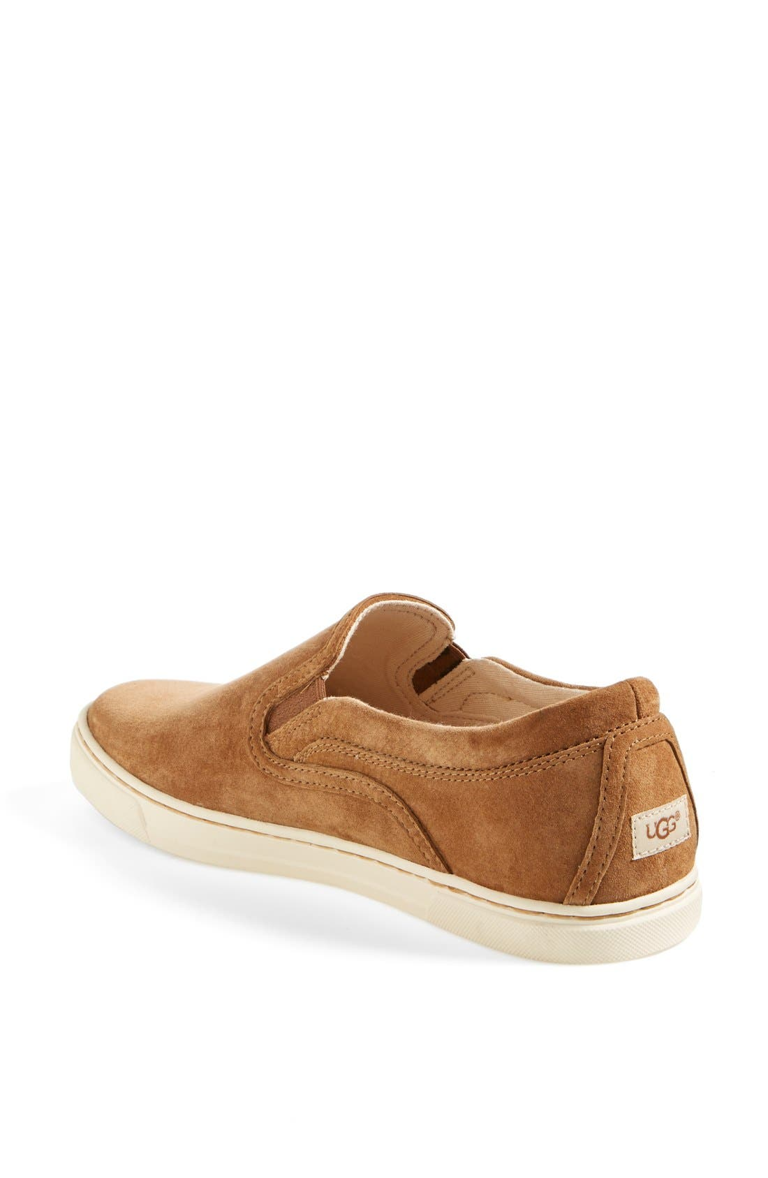 Alternate Image 2  - UGG® Fierce Water Resistant Suede Slip-On Sneaker (Nordstrom Exclusive Color) (Women)