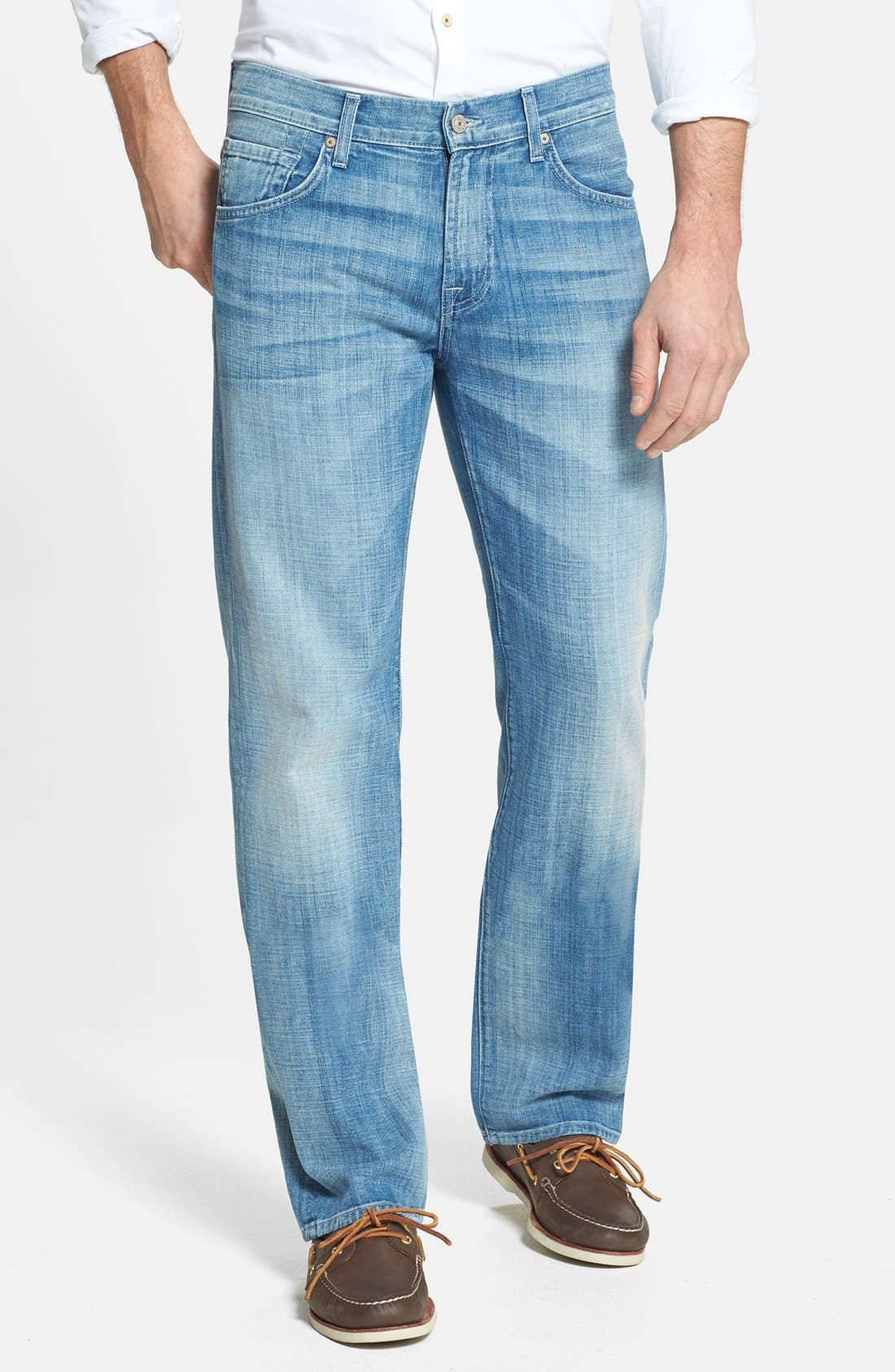 Alternate Image 1 Selected - 7 For All Mankind® 'Austyn' Relaxed Fit Jeans (Ivory Coast)