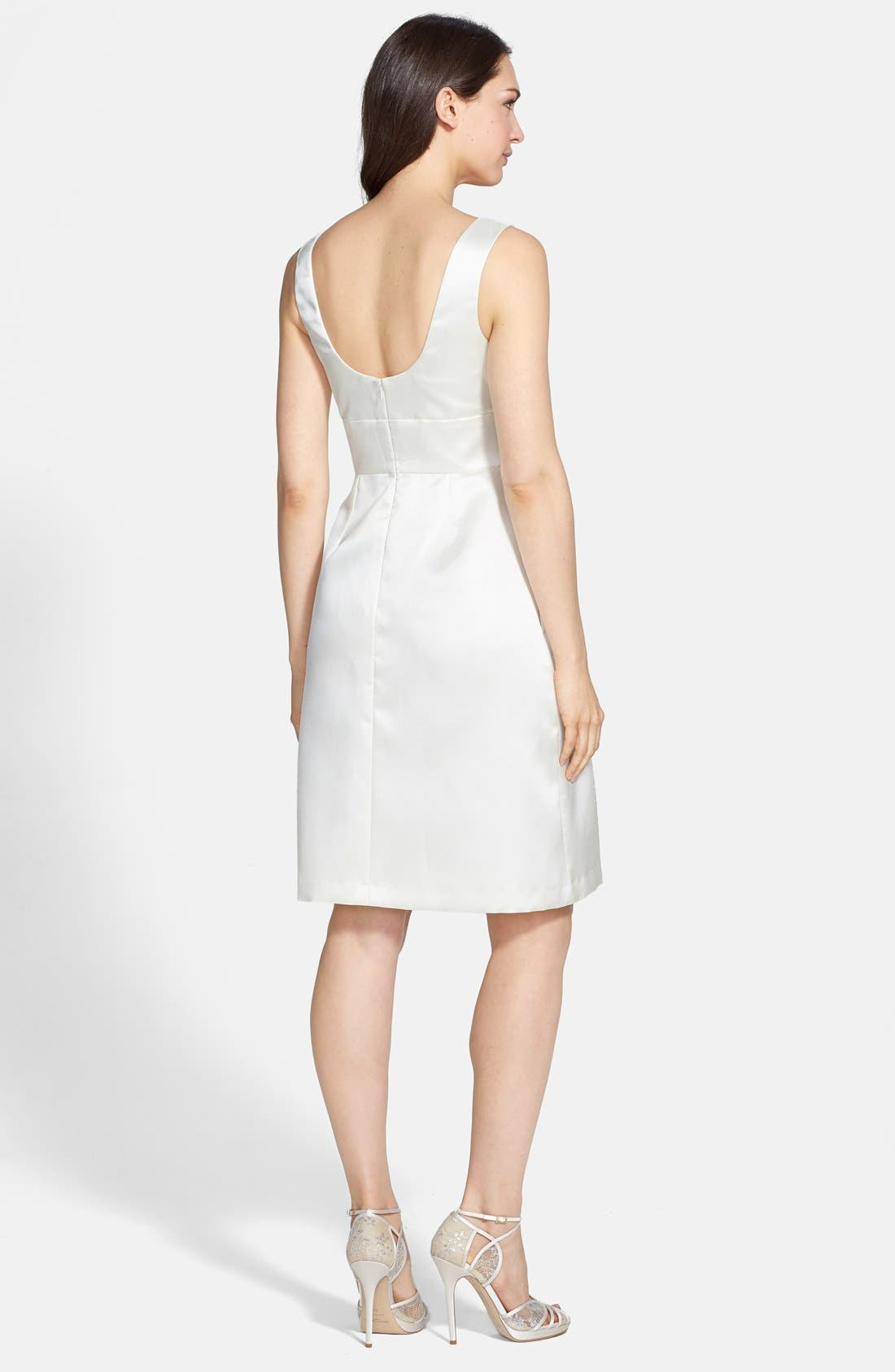 Alternate Image 2  - Alfred Sung Sateen Twill Fit & Flare Dress