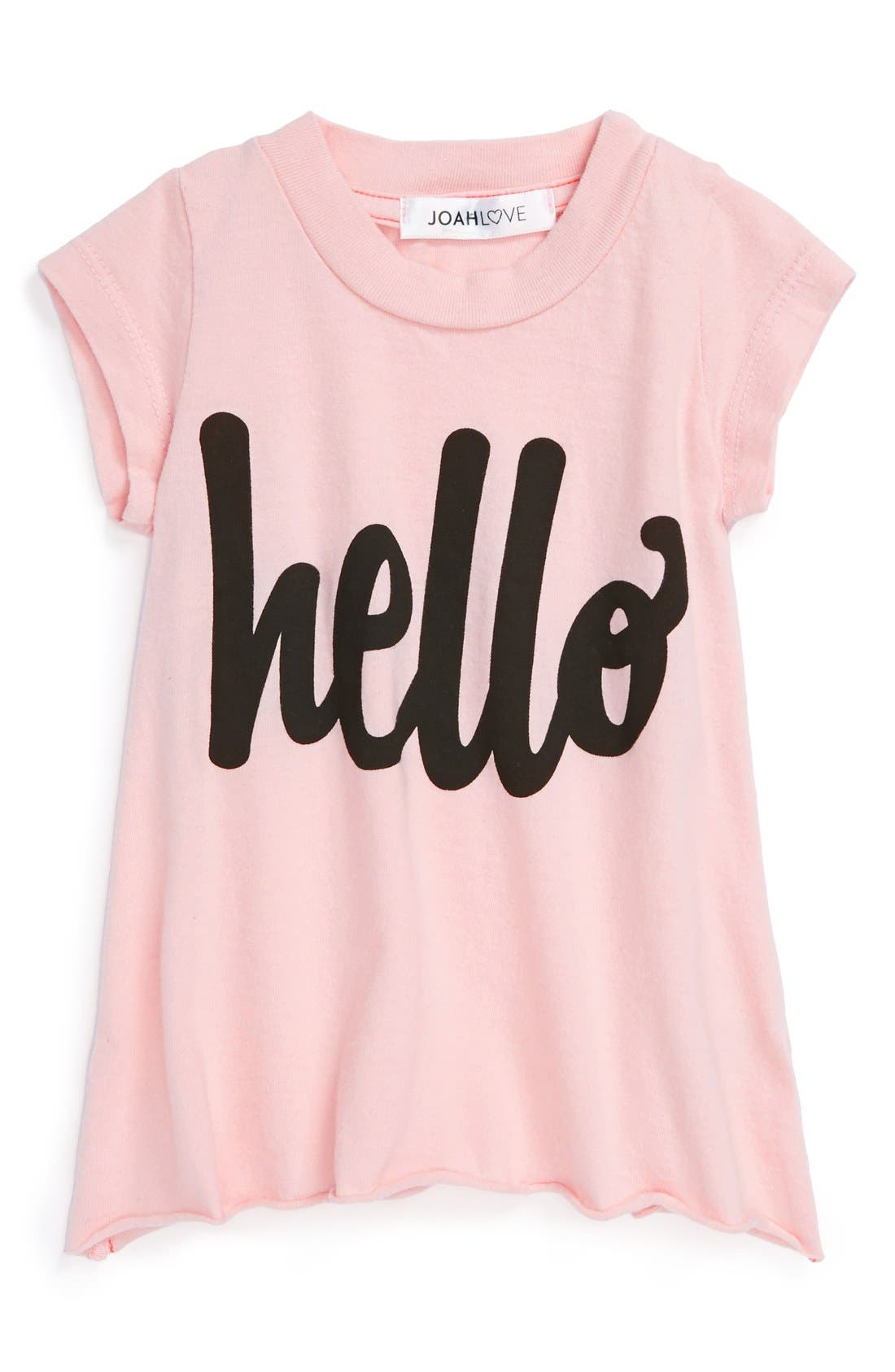 Alternate Image 1 Selected - Joah Love 'Hello' Tee (Baby Girls)