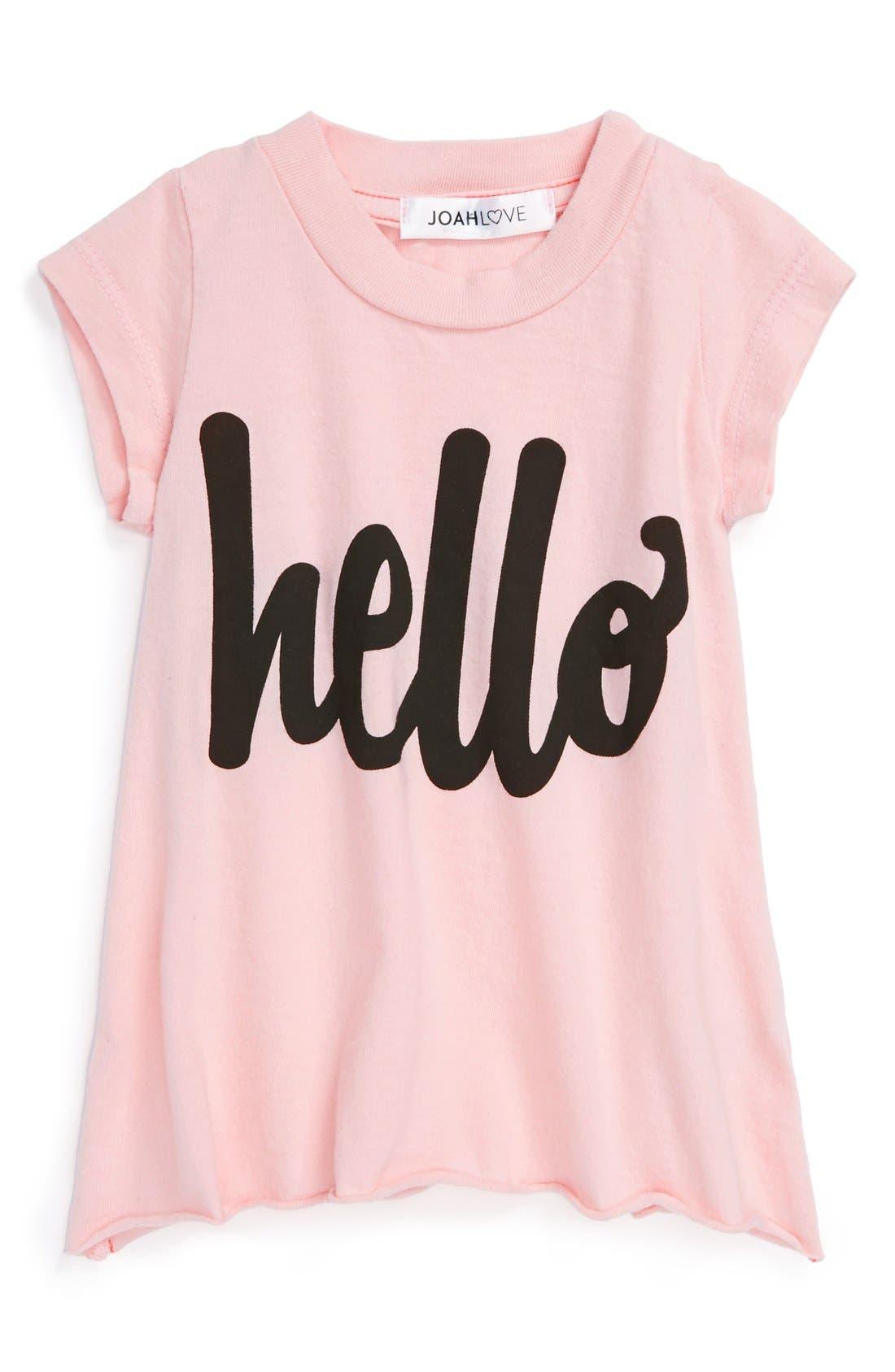 Main Image - Joah Love 'Hello' Tee (Baby Girls)