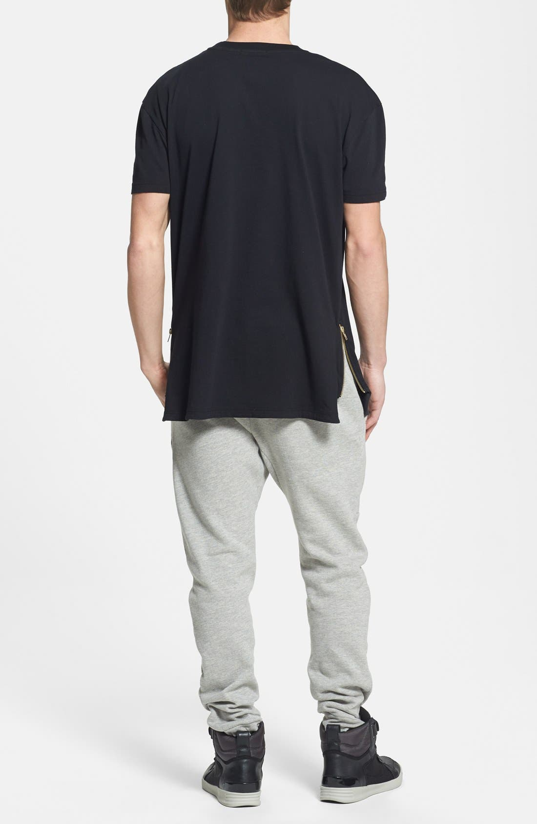 Alternate Image 4  - Topman Skinny Fit Jogger Pants with Zip Hems