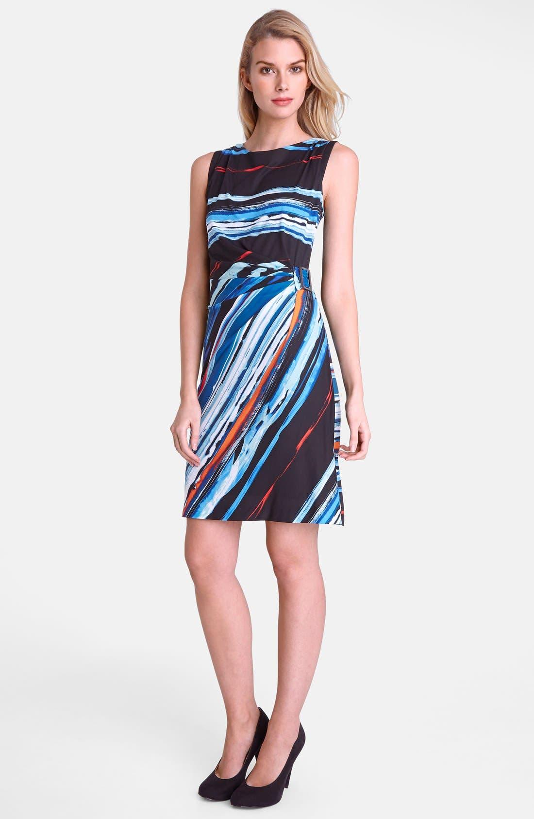 Alternate Image 3  - Tahari Print Jersey Sheath Dress