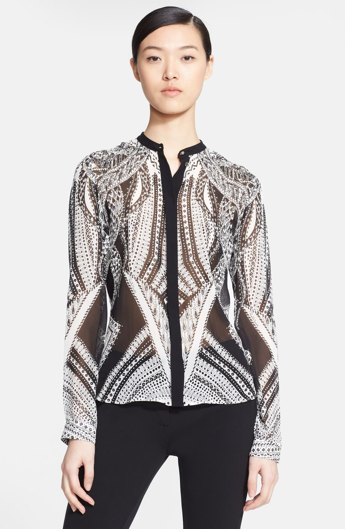 Alternate Image 1 Selected - Roberto Cavalli Print Silk Blouse