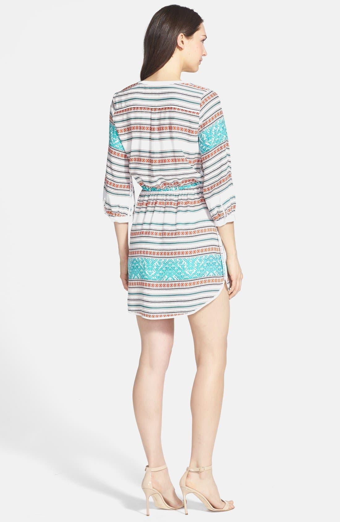 Alternate Image 2  - Parker 'Mallory' Split Neck Silk Dress