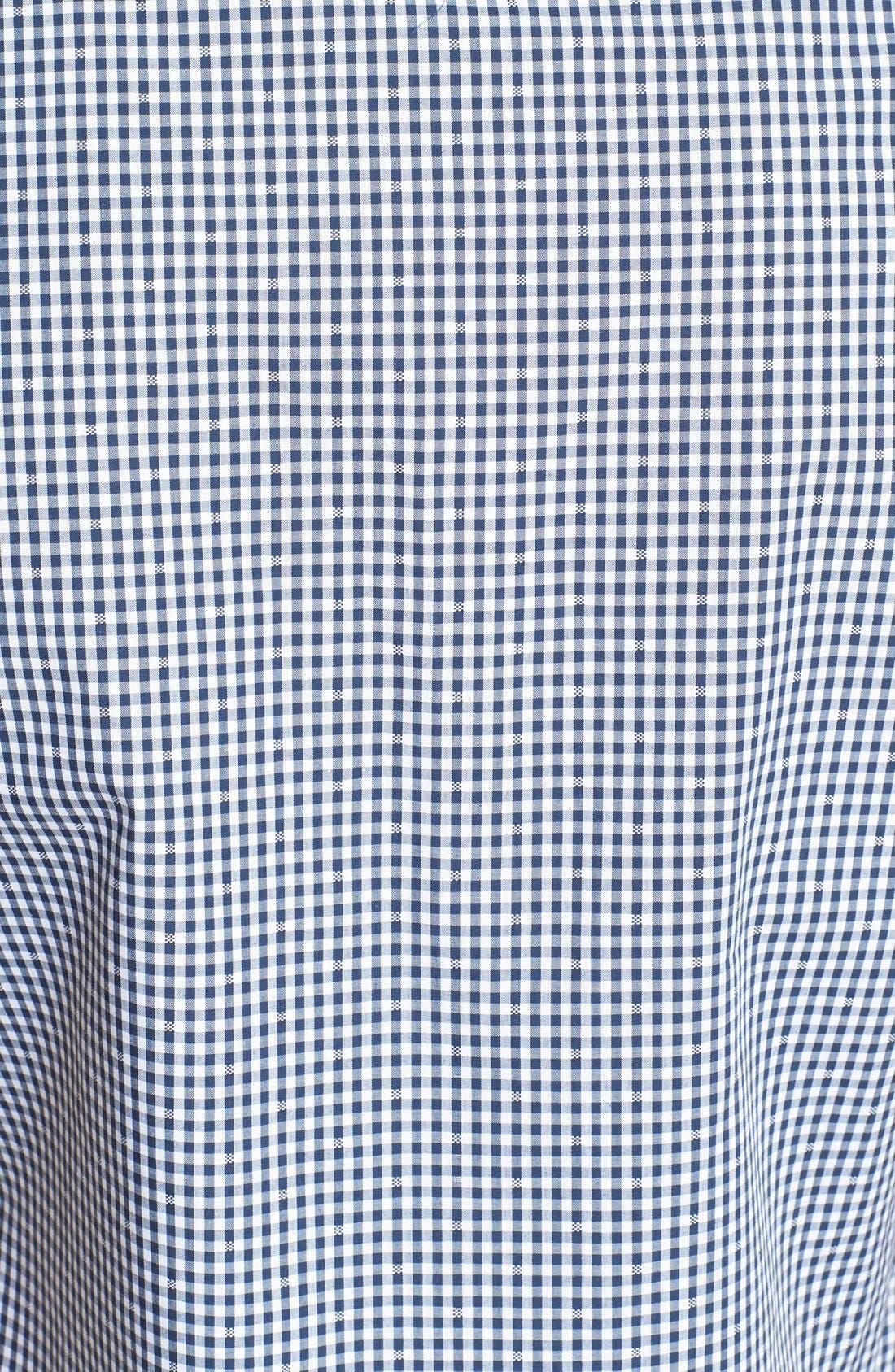 Alternate Image 3  - Topman Slim Fit Short Sleeve Gingham Shirt