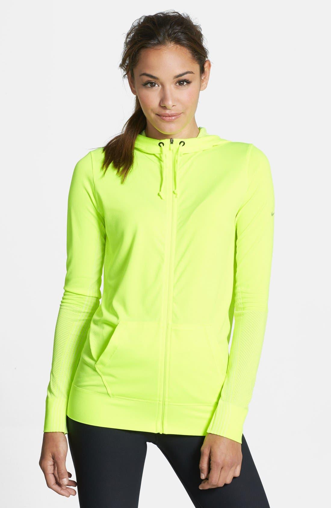 Alternate Image 1 Selected - Nike 'Epic' Dri-FIT Knit Hoodie