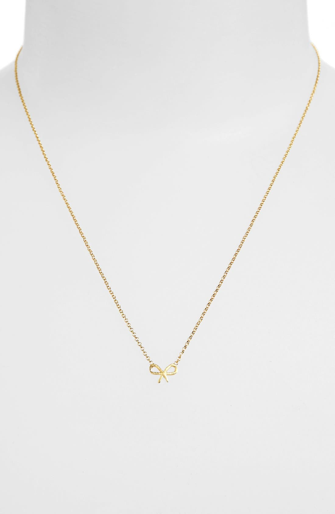 Alternate Image 2  - Dogeared 'Friends - Bow' Pendant Necklace (Nordstrom Exclusive)