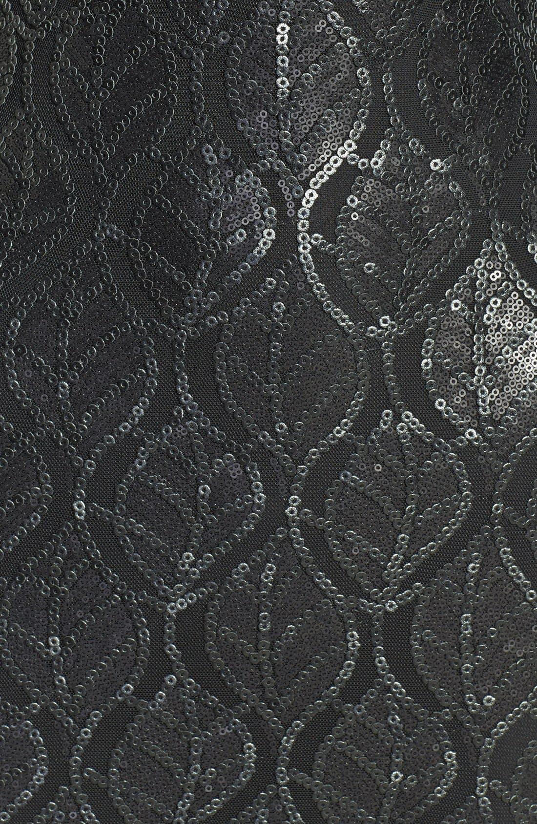 Alternate Image 4  - Dress the Population 'Jaden' Faux Leather Sequin Body-Con Dress