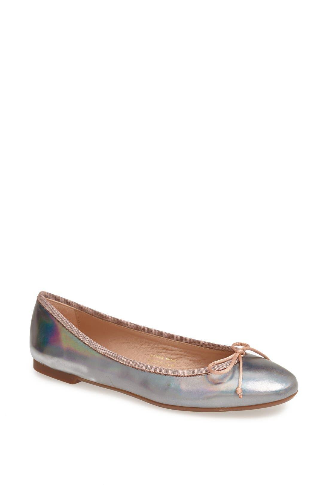 Main Image - Sweet Ballerina Metallic Ballet Flat (Women)