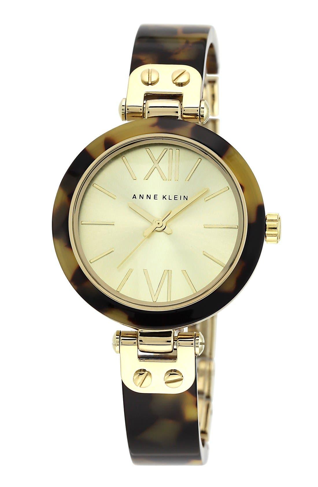 Main Image - Anne Klein Round Skinny Bangle Watch, 33mm