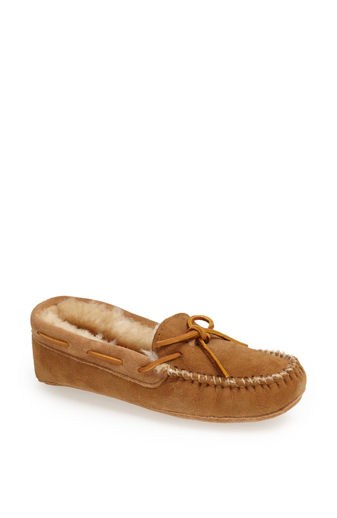 Alternate Image 1 Selected - Minnetonka Softsole Sheepskin Moccasin (Women)