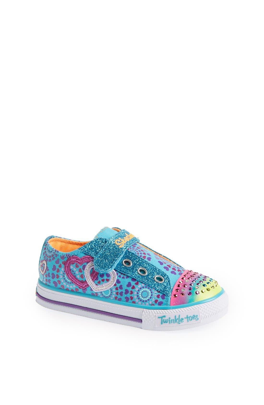 Alternate Image 1 Selected - SKECHERS 'Shuffles - Love Burst' Sneaker (Toddler)