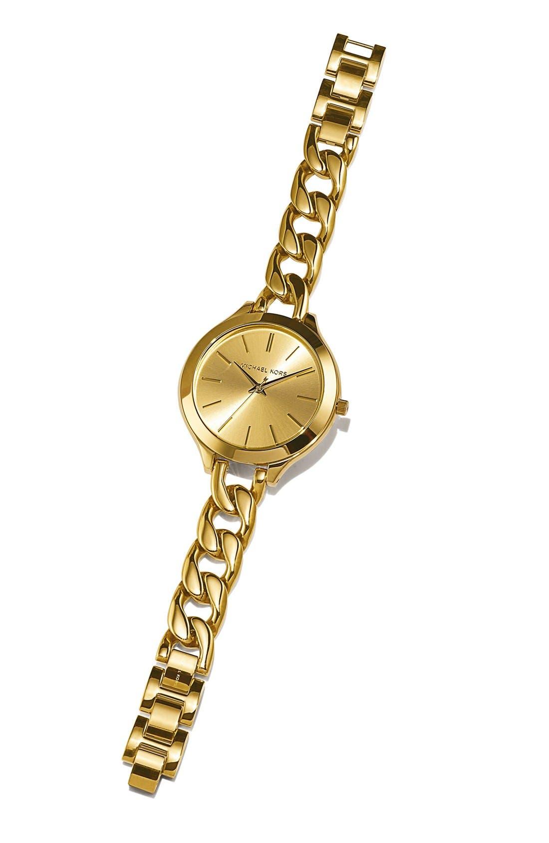Alternate Image 6  - Michael Kors 'Slim Runway' Chain Bracelet Watch, 42mm