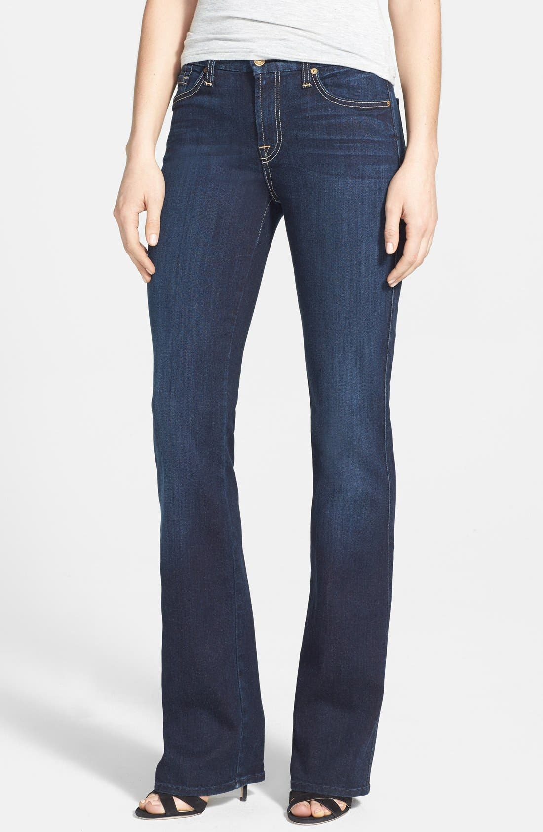 Main Image - 7 For All Mankind® 'Kimmie' Bootcut Jeans (Black Night)