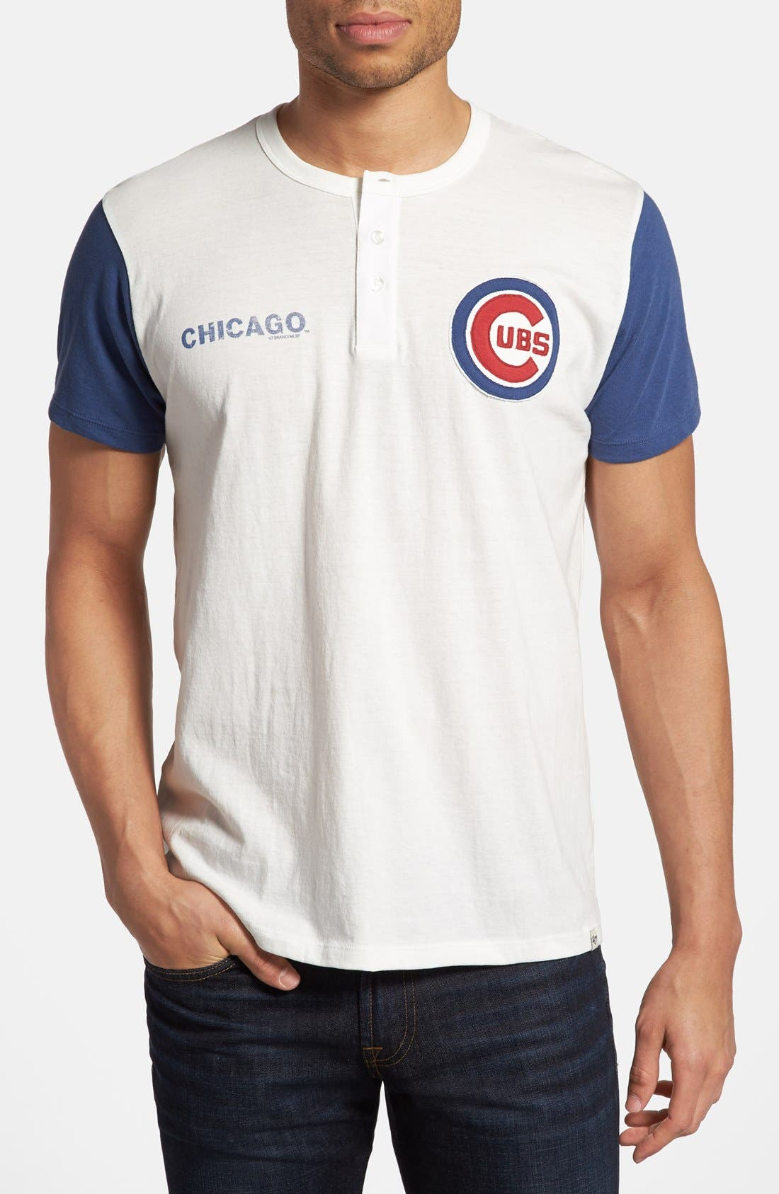 Alternate Image 1 Selected - 47 Brand 'Chicago Cubs - RBI' Henley T-Shirt