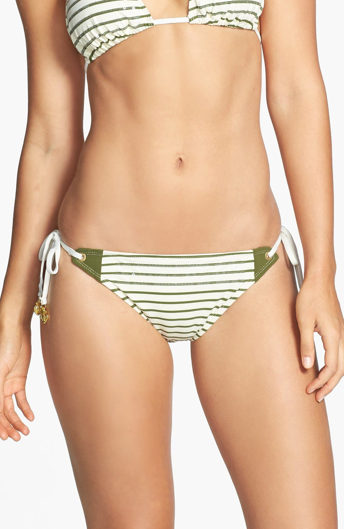 Alternate Image 1 Selected - Sperry 'Front Lines' Sequin Stripe Side Tie Bikini Bottoms