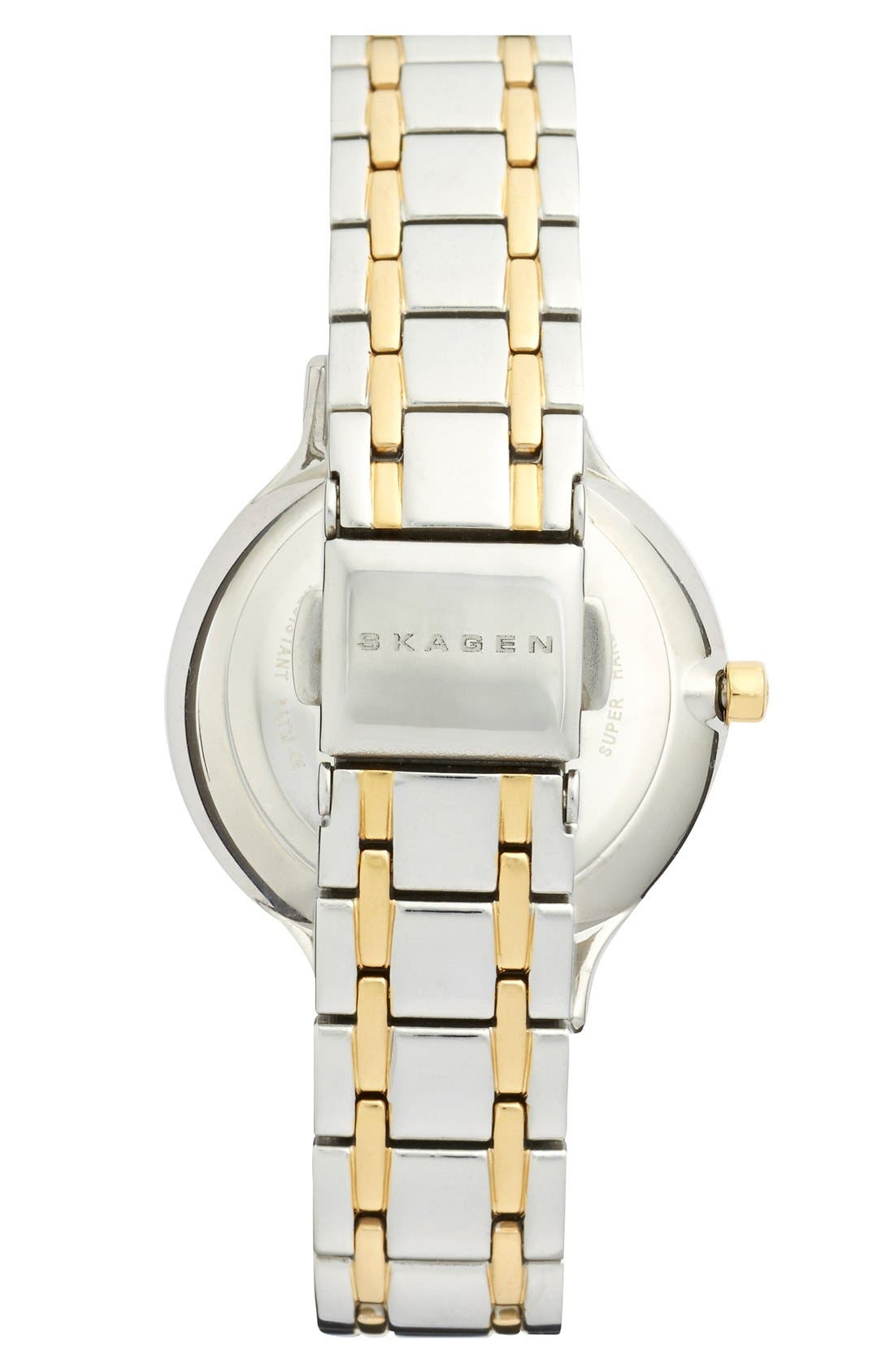 Alternate Image 2  - Skagen 'Anita' Crystal Index Bracelet Watch, 30mm (Nordstrom Exclusive)