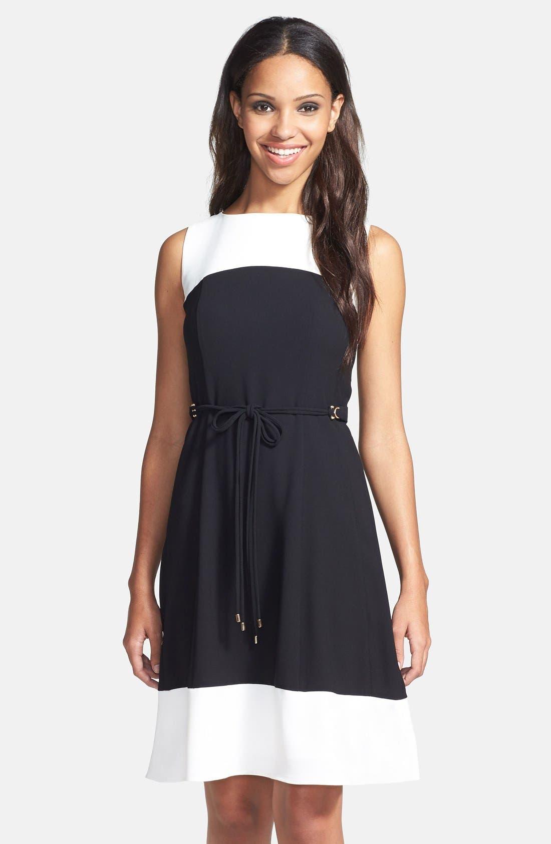 Main Image - Ivanka Trump Crepe Fit & Flare Dress